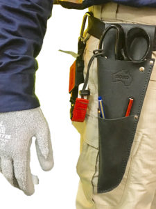 Safety Scissor Holster keeping scissors & shears safe in the workplace
