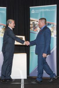 Founder, Bradley Bond, receiving finalist award in the WA WorkSafety Awards